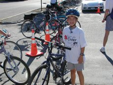 Getting ready to ride - Tour de Roses Family Bike Ride