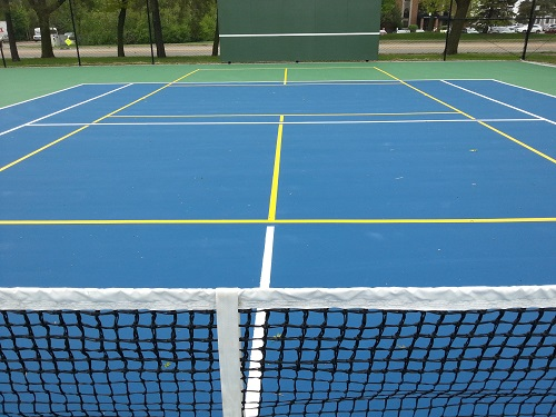 Outdoor pickleball Evergreen May 15, 2015