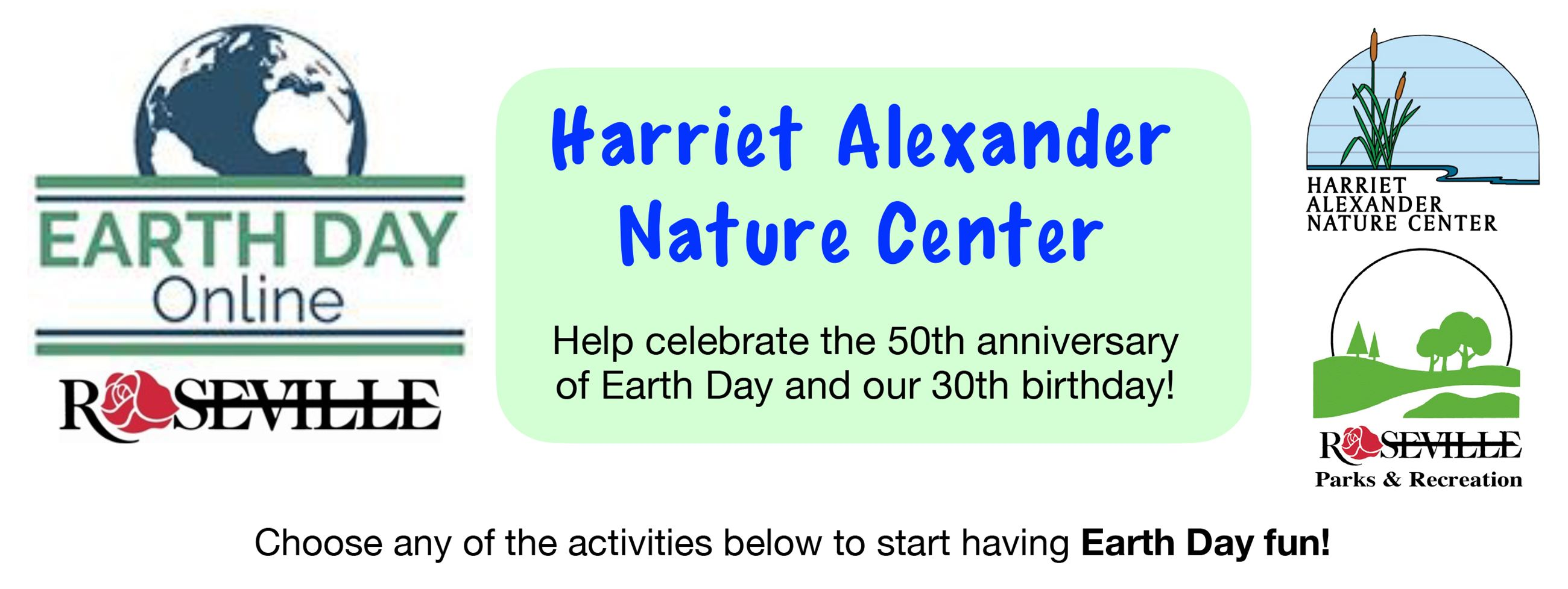 Earth Day Online Webpage header