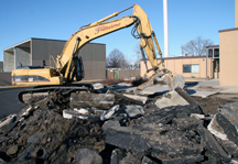 Tearing Out the Asphalt Parking Lot