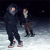 Snowshoe by Candlelight