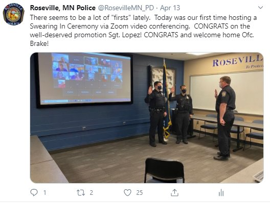 Virtual Swearing in (Sgt. Lopez and Ofc. Brake)