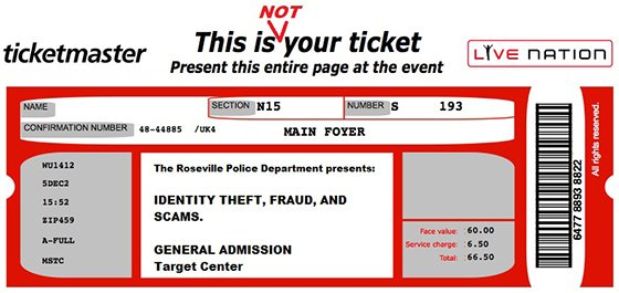Fake Ticket