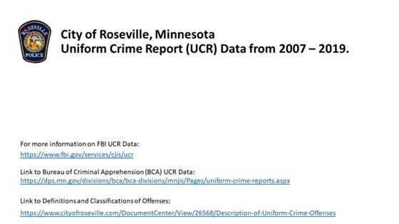 2007 - 2019 UCR Data
