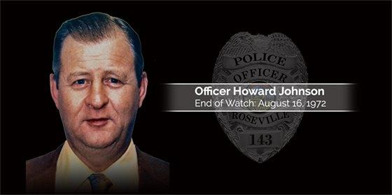 Officer Howard Johnson EOW August 16, 1972