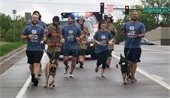 Special Olympic Torch Run, ran by Firefighters, Officers, K9 Officers.