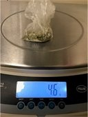 Marijuana on a scale