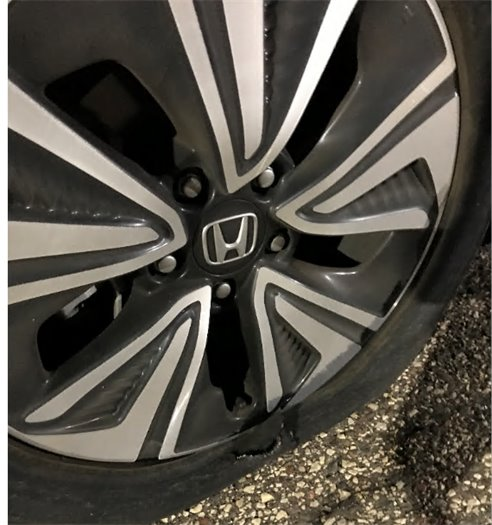 Hole in Tire