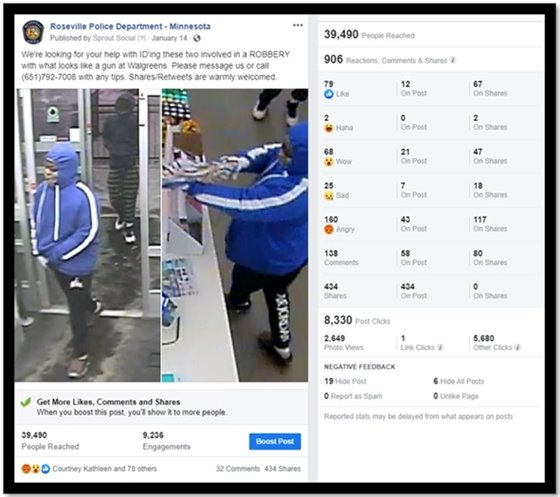 Walgreen's Robbery Facebook Post