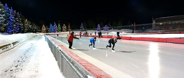 Nighttime Speedskating