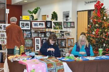 Crafters at booth
