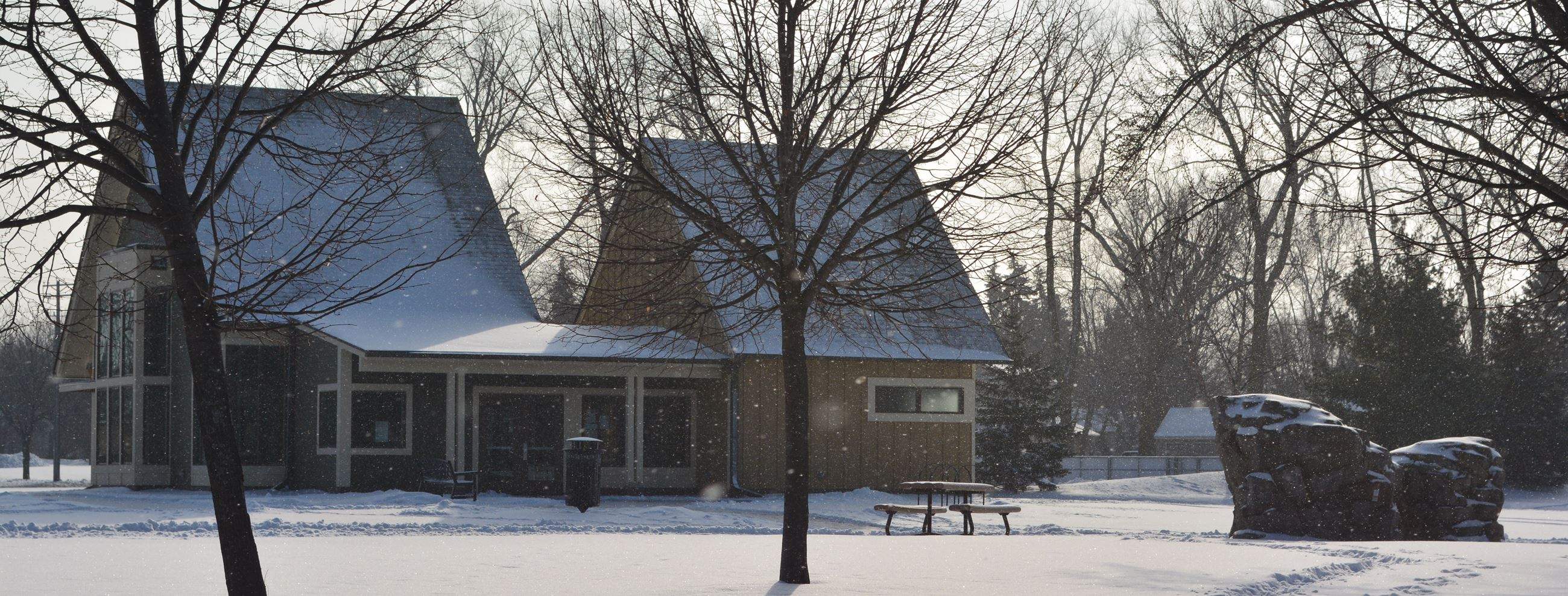 Lexington Park Building in Winter