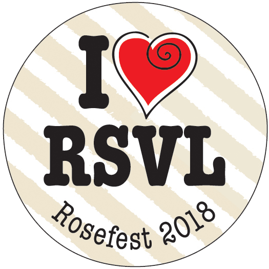 Rosefest Button- 2