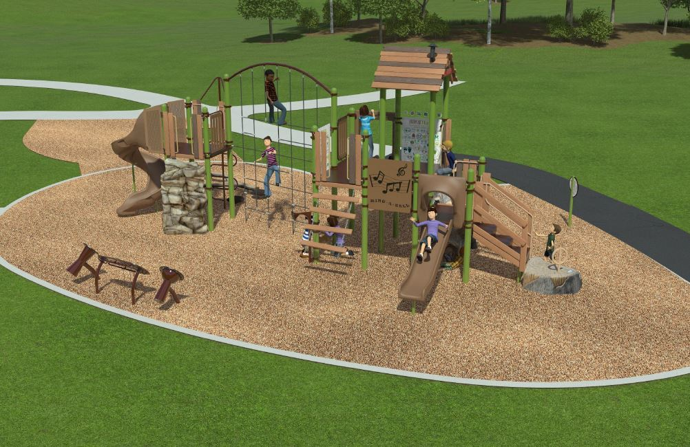 Marion St playground artists rendering