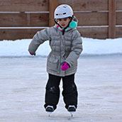 Girl Skating_Neighborhood Ice Rink