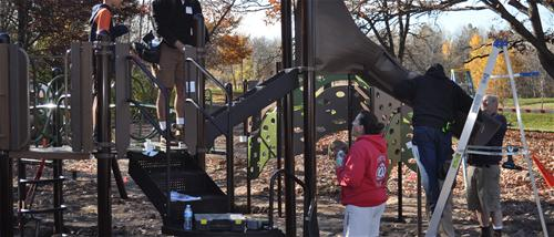 Building the new playground